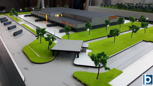 logistic warehouse scale model