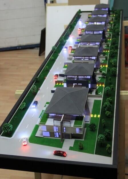real estate complex scale model