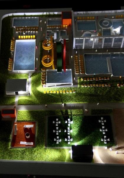 water park building model