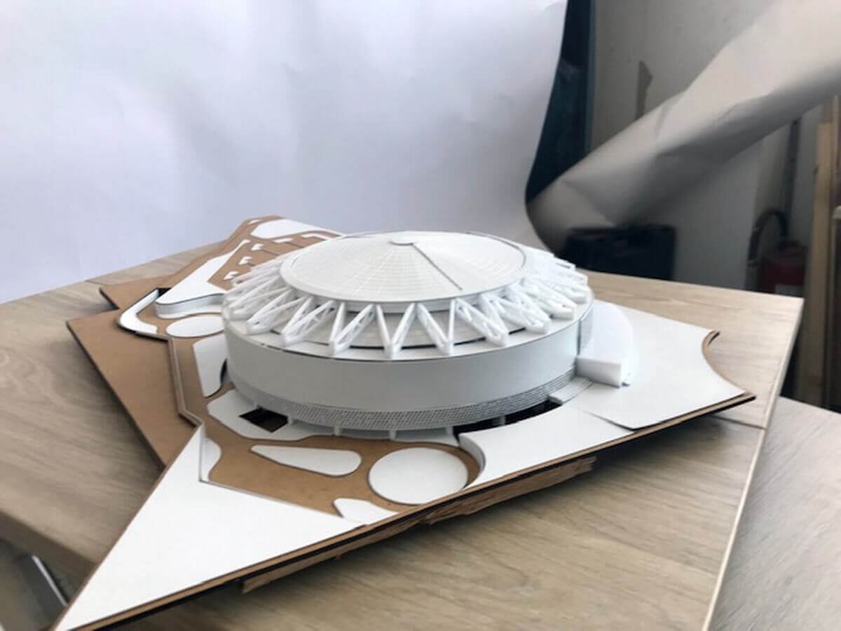 Conceptual model stadium
