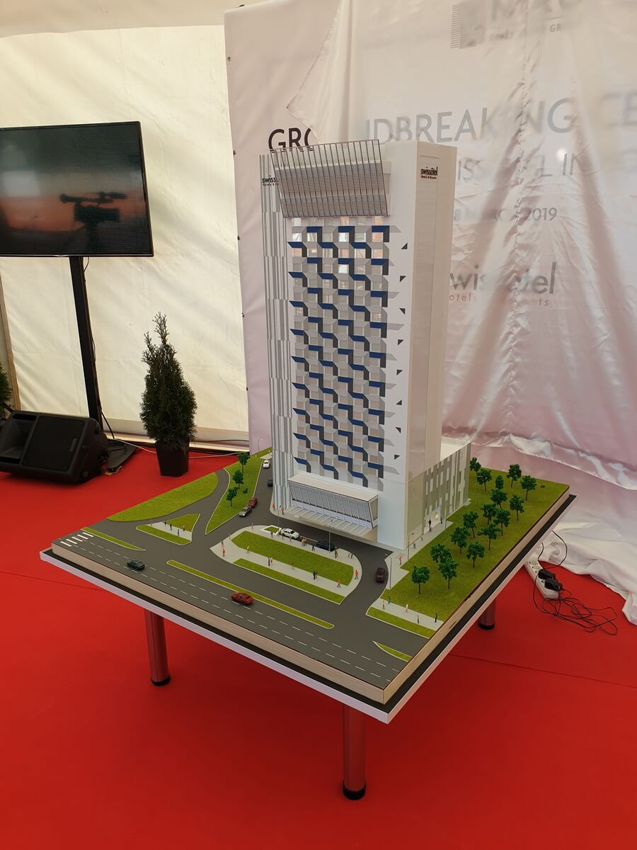 Hotel architectural model
