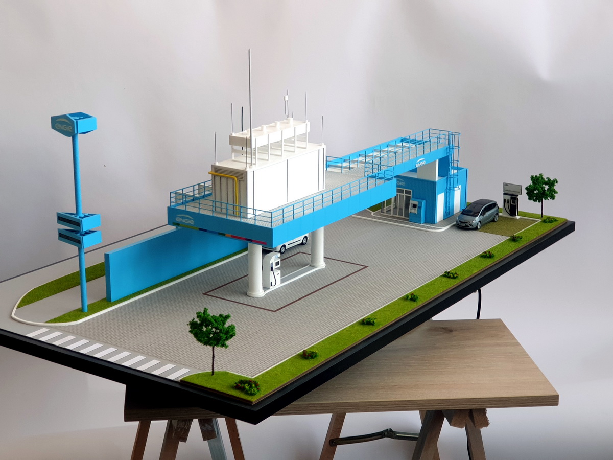 Industrial Model Gas station