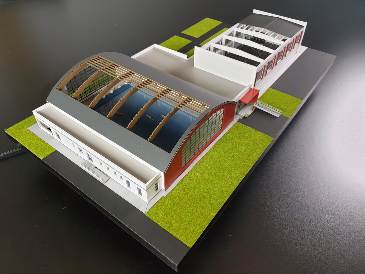 Sports Hall Scale model