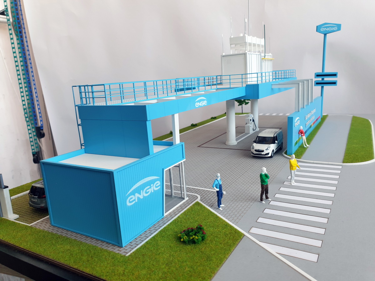 natural gas station scale model