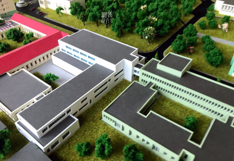 University Architectural Scale Model