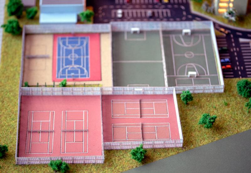 sports field model
