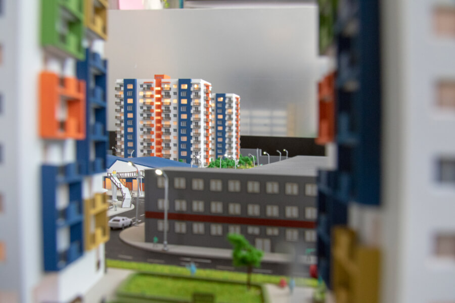 Apartment Buildings Scale Model