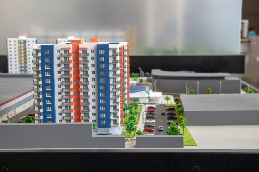 Architectural Model of Residential Complex