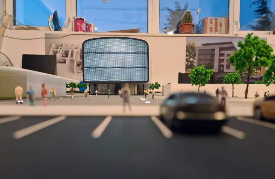 Arts Centre Scale Model
