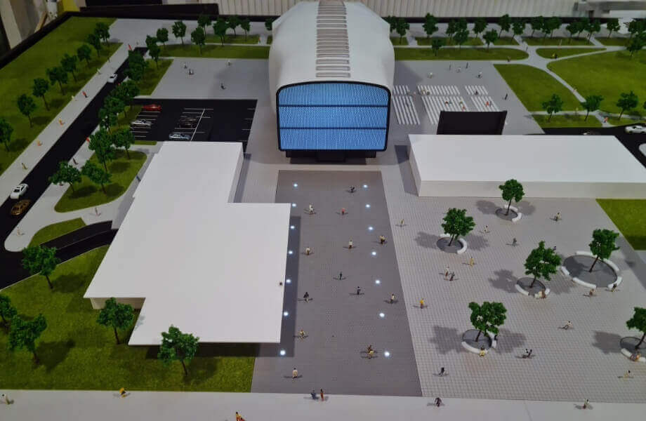 Scale Model of Cultural Center